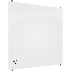 "MooreCo™ Visionary Magnetic Glass Dry-Erase Whiteboard, 36"" x 48"", White Finish Frame"