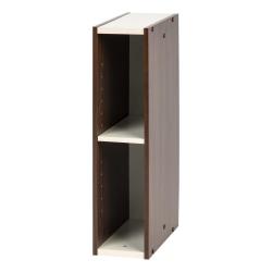 """IRIS Sema 23""""H Slim Space-Saving Shelf, Walnut Brown"""