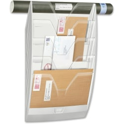 "CEP Reception Wall File, 5 Compartments, 22-13/16"" x 12-13/16"", Clear"