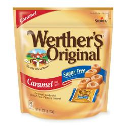 Werther's Original Sugar-Free Caramel Hard Candies, 7.7 Oz, Pack Of 2 Bags