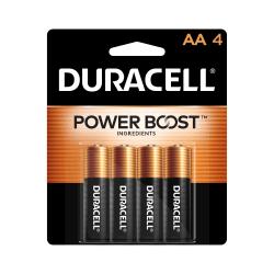 Duracell® Coppertop AA Alkaline Batteries, Pack Of 4