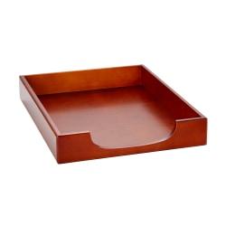 Rolodex® Wood Tones™ Letter-Size Tray, Mahogany