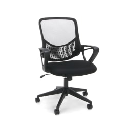 OFM Essentials Mesh High-Back Chair, Black/Silver