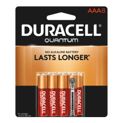 Duracell® Quantum Alkaline AAA Batteries, Pack Of 8