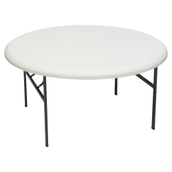 "Iceberg Indestruct-Table Too Round Folding Table, 29""H x 60""D, Platinum/Gray"