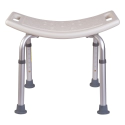 "HealthSmart® Compact Shower Bench, 21""H x 20""W x 12""D, White"