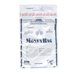 """PM™ Company Clear Disposable Plastic Deposit Bags, 9"""" x 12"""", Pack Of 100"""