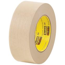 "3M™ 232 Masking Tape, 3"" Core, 2"" x 180', Tan, Case Of 12"