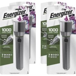 Eveready Vision HD Rechargeable Flashlight - Aluminum AlloyBody - Aluminum