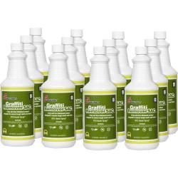 SKILCRAFT® Graffiti Remover, 32 Oz Bottle, Box Of 12 (AbilityOne 7930-01-555-3382)