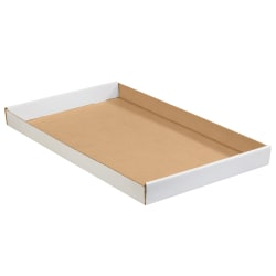 """Office Depot® Brand Corrugated Trays, 1 3/4""""H x 15""""W x 24""""D, White, Pack Of 50"""