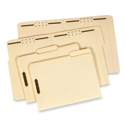 Pendaflex® Manila 1/3-Cut Fastener Folder, Letter Size, 2 Fasteners