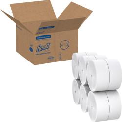 """Scott Coreless Jumbo Roll Tissue - 1 Ply - 3.78"""" x 2300 ft - 9"""" Roll Diameter - White - Fiber - Coreless, Non-chlorine Bleached - For Bathroom - 12 / Carton"""