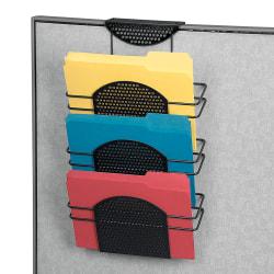 Fellowes® Perf-ect Partition™ Triple File Pocket, Black