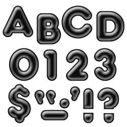 """Trend® Ready Letters® Uppercase 3D Letters, 4"""", Black, Pack Of 71"""