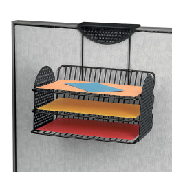 Fellowes® Perf-ect Partition™ Triple Tray, Black