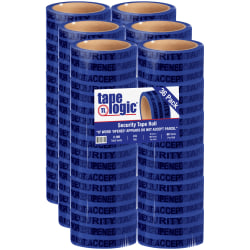 "Tape Logic® Secure Tape, 3"" Core, 2"" x 60 Yd., Blue, Case Of 36"