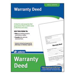 Adams® Warranty Deed