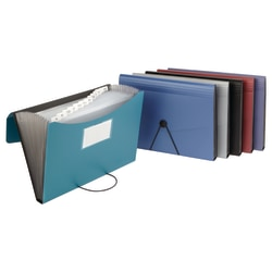 Office Depot® Brand Poly 13-Pocket File, Letter Size, Assorted Colors (No Color Choice)