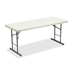 Iceberg Adjustable Folding Table, Platinum