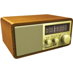 Sangean FM / AM Analog Wooden Cabinet Receiver - Headphone