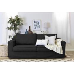 "Serta® Colton 85"" Sofa With Slipcover, Dark Charcoal"