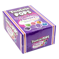 Tootsie Pops Wild Berry Lollipops, 100 Pieces