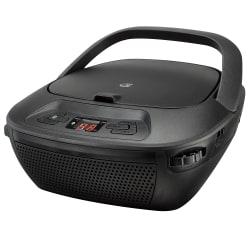 """GPX Bluetooth® BCB117B CD Boombox With AM/FM Radio, 4.33""""H x 8.46""""W x 8.46""""D, Black"""