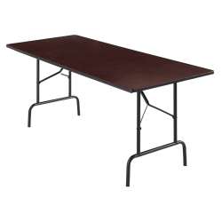 "Realspace® Folding Table, 29""H x 72""W x 30""D, Walnut"
