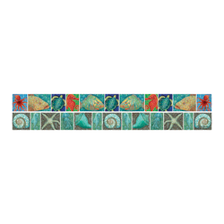 "Barker Creek Double-Sided Straight-Edge Border Strips, 3"" x 35"", Coral Reef, Pack Of 12"