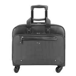 """Solo Gramercy Park Rolling Case with 15.6"""" Laptop Pocket, Gray"""