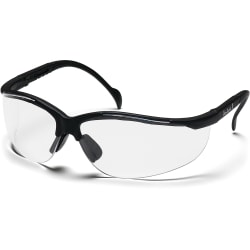 ProGuard 830 Series Style Line Safety Eyewear - Side Shield, Adjustable Temple, Lightweight, Comfortable - Clear, Black - 1 Each