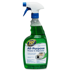 Zep All-Purpose Cleaner/Degreaser - Ready-To-Use Spray - 0.25 gal (32 fl oz) - 12 / Carton - Green