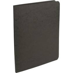 Office Depot® Brand Pressboard Report Covers With Fasteners, 50% Recycled, Black, Pack Of 5