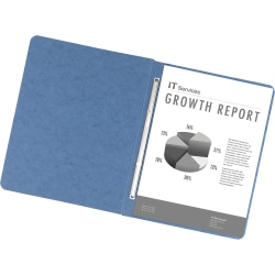 Office Depot® Brand Pressboard Report Covers With Fasteners, 50% Recycled, Light Blue, Pack Of 5