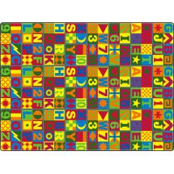 Flagship Carpets Printed Rug, 6'H x 12'W, Floors That Teach