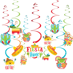 Amscan Cinco de Mayo Fiesta Swirls Decorating Kit, Set Of 30 Pieces
