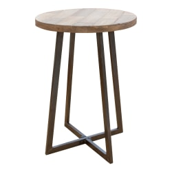 "FirsTime & Co. Miles Rustic Accent Table, 22""H x 16""W x 16""D, Brown"