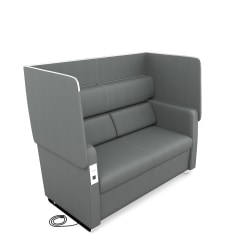 OFM Morph Series Soft Seating Sofa, Slate Gray/Chrome