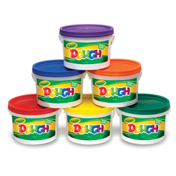 Crayola® Super Soft Modeling Dough, 3 Lb, Assorted Colors, Pack of 6 Tubs