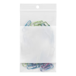 "Office Depot® Brand Reclosable Bags With Write-On Panel, 3"" x 5"", Box Of 100"