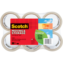 "Scotch® Long Lasting Storage Packaging Tape, 1-7/8"" x 49.2 Yd., Pack Of 6 Rolls"