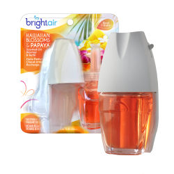 Bright Air® Electric Scented Oil Air Freshener Warmer And Refill, 0.67 Oz, Hawaiian Blossom And Papaya Scent