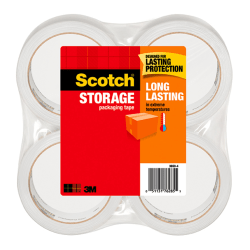 "Scotch® Long Lasting Storage Packaging Tape, 1-7/8"" x 54.6 Yd., Pack Of 4 Rolls"