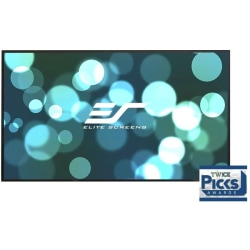 """Elite Screens Aeon - 150-inch Diagonal 16:9, 8K 4K Ultra HD Ready Ceiling Light Rejecting and Ambient Light Rejecting EDGE FREE Fixed Frame Projector Screen, CineGrey 3D? Projection Material, AR150DHD3"""""""