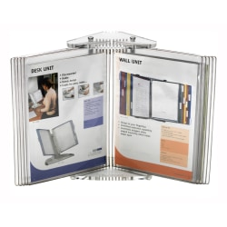 "Tarifold 10-Pocket Crystal Desktop Reference System, 12""H x 12""W x 15""D, White/Crystal"