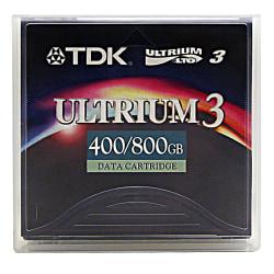 TDK LTO Ultrium 3 Data Cartridge, 400GB