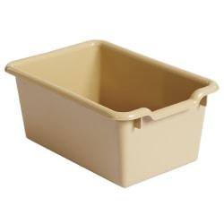 ECR4Kids® Scoop Front Storage Bins, Medium Size, Sand, Pack Of 10