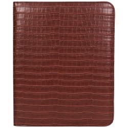 """Kenneth Cole R-Tech Croco Faux Leather Open-Style Bifold Writing Pad, 12""""H x 10""""W x 1/2""""D, Red"""