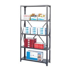 "Safco® Commercial Steel Shelf Pack, 75""H x 36""W x 24""D, 6 Shelves, Gray"